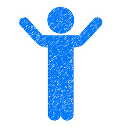 Hands up child grunge icon vector