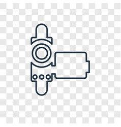 Handy cam concept linear icon isolated on vector
