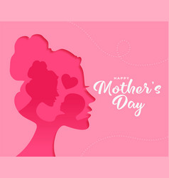 Happy mothers day wishes card vector