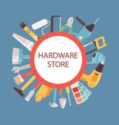 Hardware store banner vector