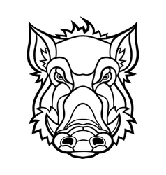head boar mascot design vector image