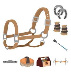 Horseback and equestrian vector