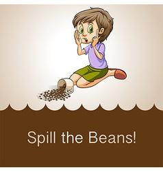 Idiom spill beans vector