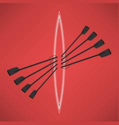 image logo rowing club color sport vector image