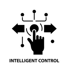 Intelligent control icon black sign with vector