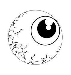 Isolated spooky eyeball icon vector