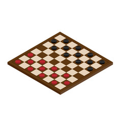isometric checkerboard with checkers vector image