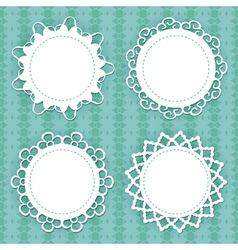 Lacy frames vector