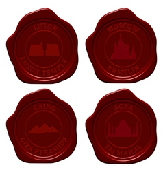 landmark sealing wax set vector image