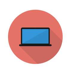 laptop icon with shadow vector image
