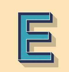 Letter e retro text style fonts concept vector