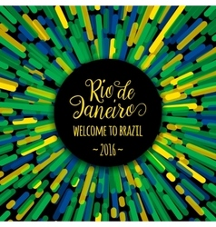Lettering motivation quote text sign Rio de vector image