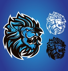 Lion blue logo vector