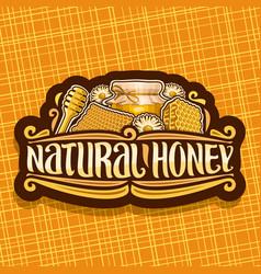 Logo for natural honey vector