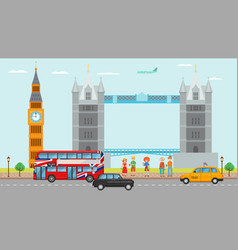 London great britain tourism travel concept and vector