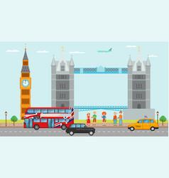 London great britain tourism travel concept vector