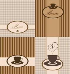 menu card set vector image