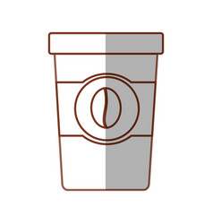 Paper cup coffee with shadow vector