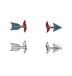 piercing arrow vector image