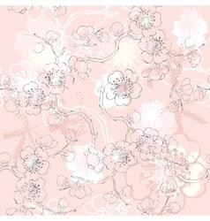 Pink sakura pattern vector