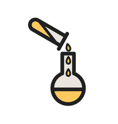 Pouring chemical vector