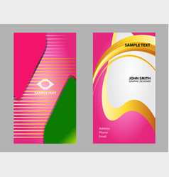 premium business card design set vector image