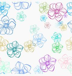 Purple camomile flower seamless bright pattern vector