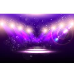Purple spotlight background vector