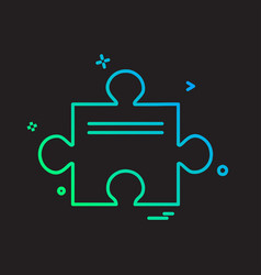 puzzle piece icon design vector image