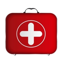 Red Medical Bag with a Cross vector