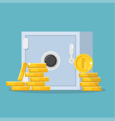 Safe and coins vector