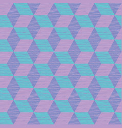 Seamless abstract pattern with cube construction vector