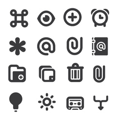 Set multimedia icons 1 vector