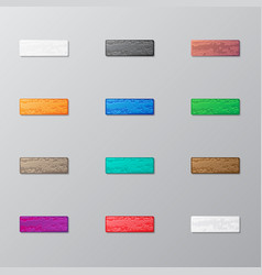 set of bricks vector image