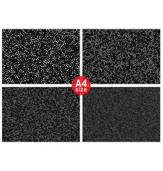 Set of halftone random dots horizontal backgrounds vector