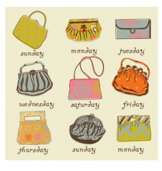 set of woman bags vector image