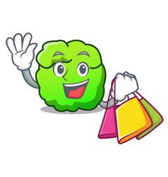 Shopping shrub character cartoon style vector