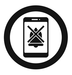 smartphone silence icon simple style vector image