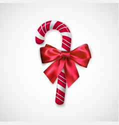 striped red and white christmas candy realistic vector image