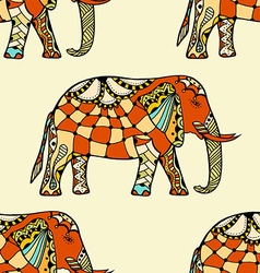 Stylized indian elephant vector