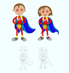 Superboy n girl vector