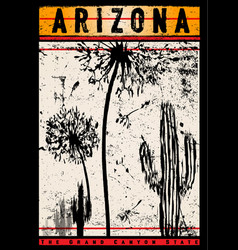 T shirt design arizona vector