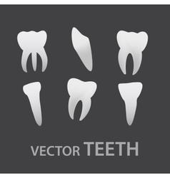Teeth icons eps10 vector