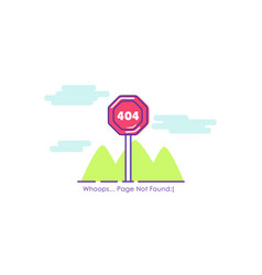 traffic sign page 404 not found vector image