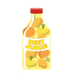 Turnip juice Juice from fresh vegetables Turnip in vector image