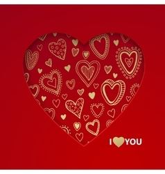 Valentine day postcard concept vector image