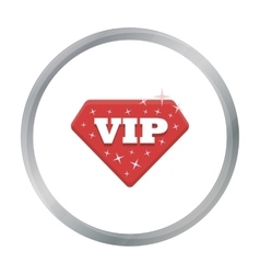 VIP icon in cartoon style isolated on white vector