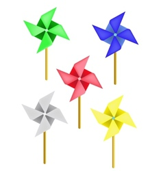 weather vane in a shape of flower vector image