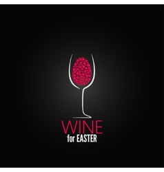 Wine easter design background vector