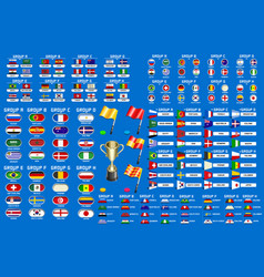World cup championship groups schedule vector